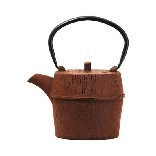 Regent - Cast Iron Round Chinese Tea Pot Brown 1LT