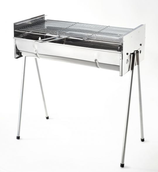 Metalix - Large Adjustable Braai (Stainless Steel)