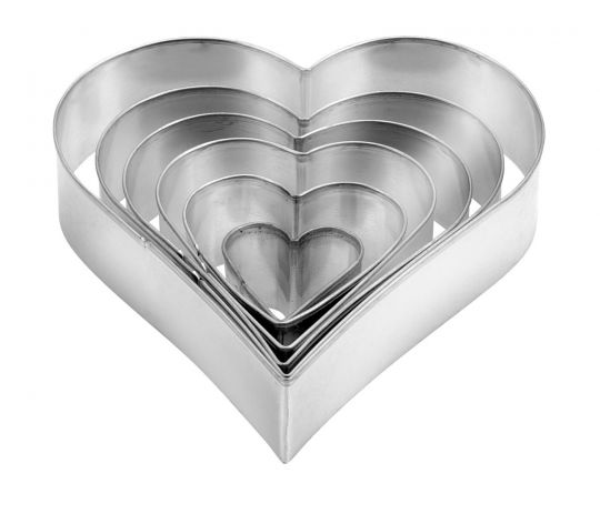 Tescoma - Heart Shaped Cookie Cutters 6 Pieces Delicia