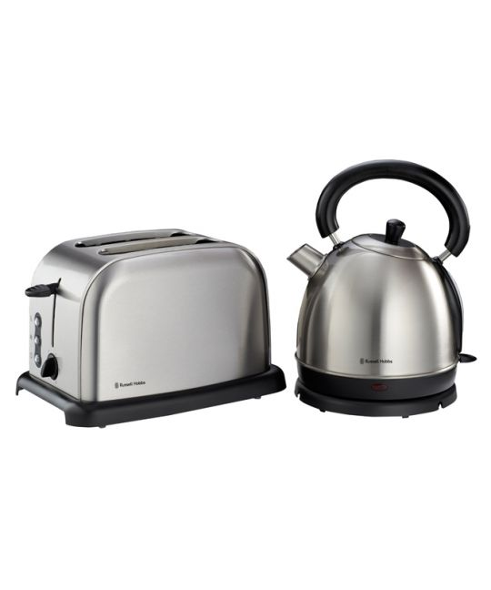 Russell Hobbs - Kettle & Toaster Set (Brushed Stainless Steel)