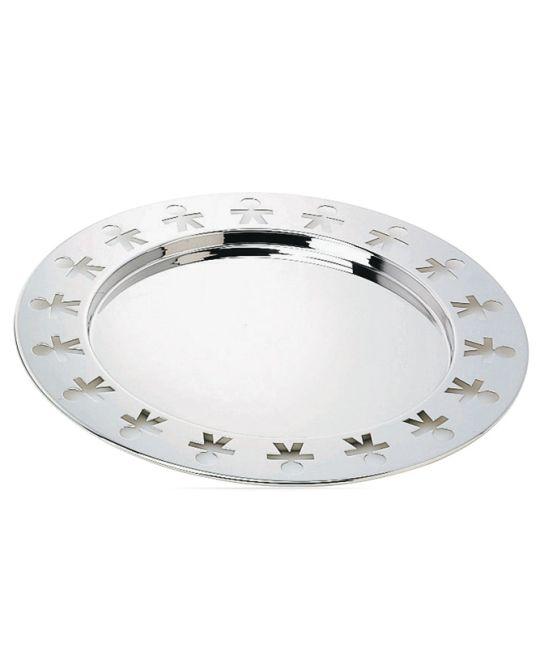 Alessi - Girotondo Round Tray - Silver  40cm