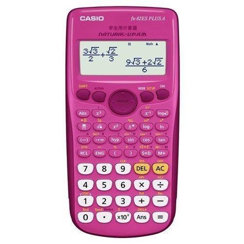 Casio - Scientific Calculator FX-82ZA PlusII (Pink)