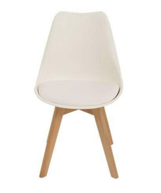 Mad Chair - Replica Eames With Padded Seat - White