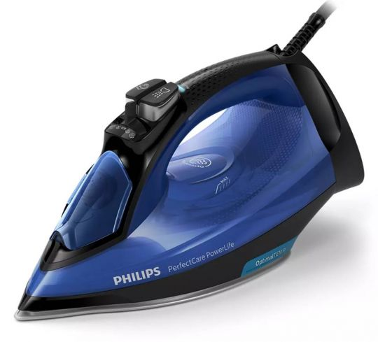 Philips - Perfect Care Steam Iron 2500w - Optimal Temp Tech  Solid Blue
