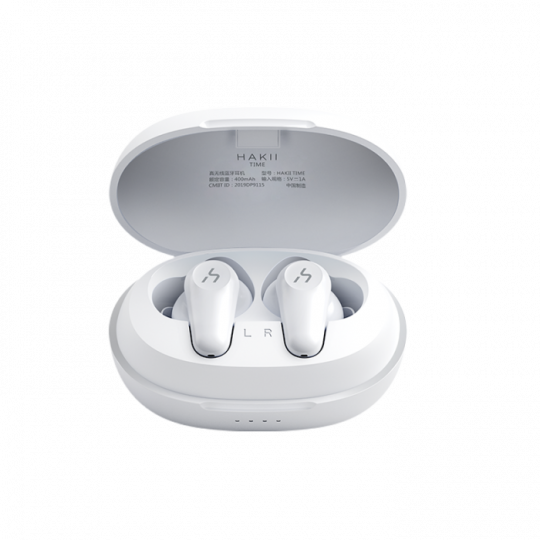 HAKII - TIME Wireless Noise cancelling Earbuds with charging case - White