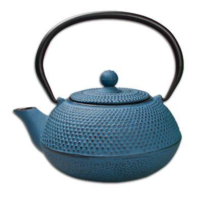 Regent - Cast Iron Chinese Teapot Blue 600ml