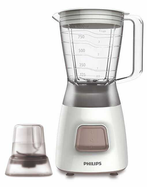 Philips - Daily Collection Blender 450w with Mill - White