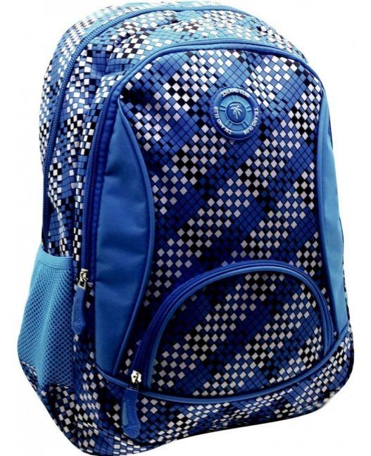 Island Club - Large 600D Backpack (Blue)