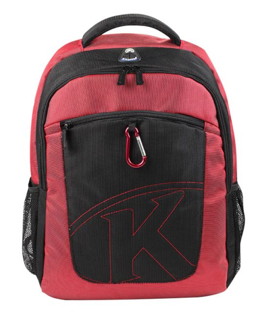 """Kingsons - 15.6"""" red laptop backpack with key chain"""
