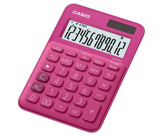 Casio - MS-20UC Desktop Calculator 12 Digit (Red)