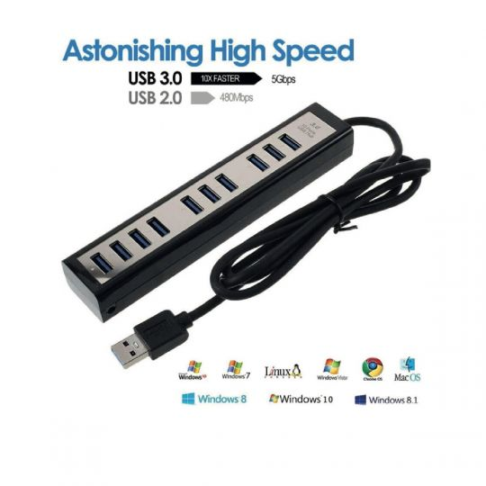Kolitron - 10 Port USB 3 HuB
