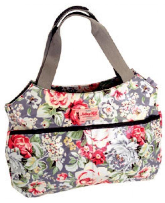 Notting Hill - Side Pocket Handle Handbag (Light Floral)