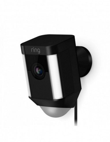 Ring - Hardwired Spotlight Cam - Black