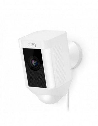 Ring - Hardwired Spotlight Cam - White