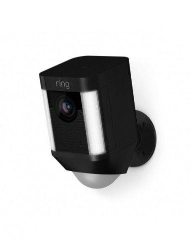 Ring - Battery-Powered Spotlight Cam - Black