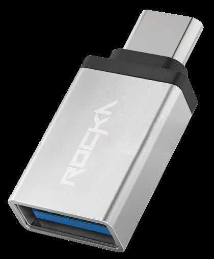 Rocka - Link Series Type C To USB OTG Adaptor (Silver)