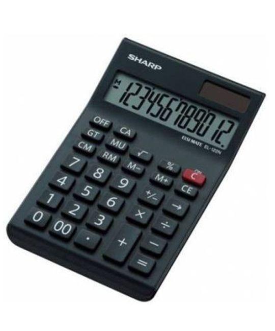 Sharp EL-122N-BK Desk Calculator 12 Digit Mark Up