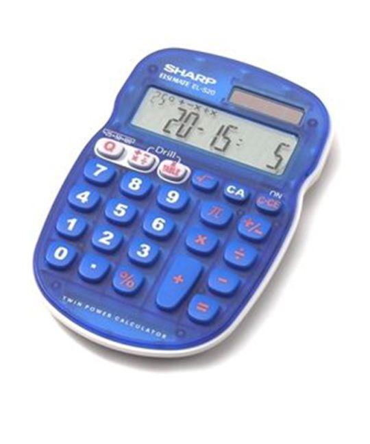 Sharp - EL-S25 Calculator Blue