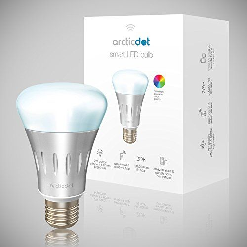 Arcticdot - 5w Dimmable Smart LED Bulb (Alexa and Google Home Compatible)