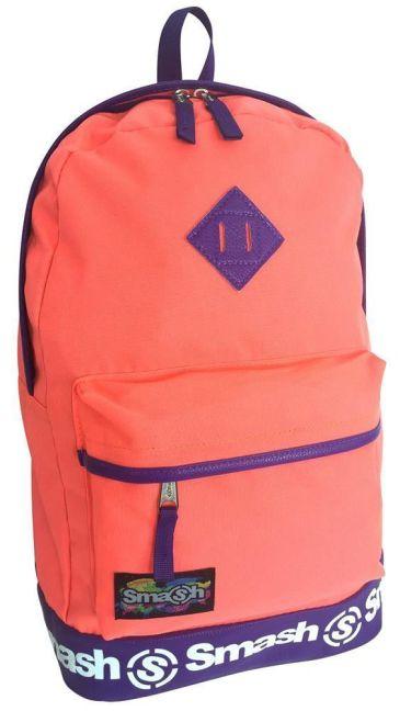 Smash - Neon PVC Trim 2 Pocket Backpack (Orange)