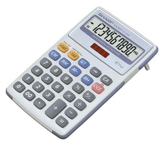 Sharp - EL-334 Mini Desk Calculator