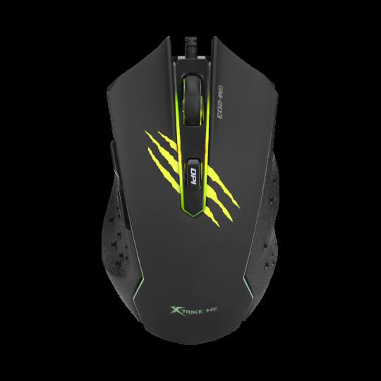 XTRIKE - 6D, 3600DPI Multi-coloured Backlit Optical Gaming Mouse