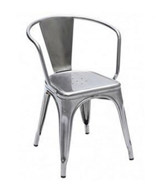 Mad Chair - Replica Tolix arm chair - Galvanised