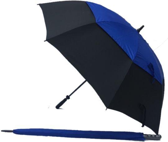 Black/Blue UV Gustbuster Golf Umbrella - Fibre