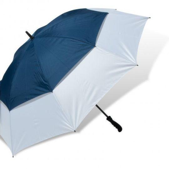 Royal/White UV Gustbuster Umbrella - Fibre