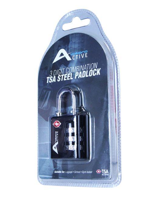 Volkano - Active Safe Series TSA Lock (Black)