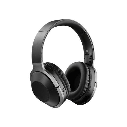 Volkano - Harmonic Series Bluetooth Wireless Headphones With Carry Case Black/Gunmetal