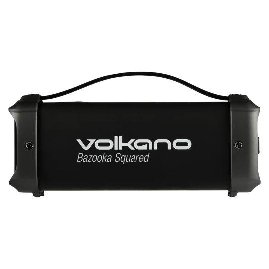 Volkano - Bazooka Squared series Bluetooth speaker Square shape - Black