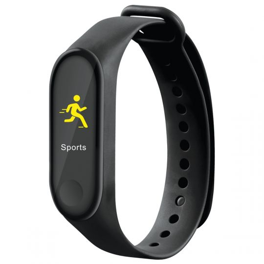 Volkano - Active Tech Core Series Fitness Bracelet with Heart Rate Monitor Black