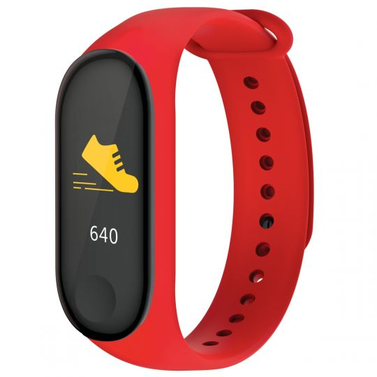 Volkano - Active Tech Core Series Fitness Bracelet with Heart Rate Monitor Red