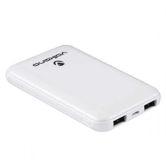 Volkano - Nano Series 5000 mAh Li-Po Powerbank - White