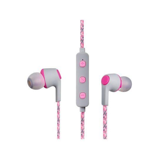 Volkano - Moda- Nylon Bluetooth Earphones with Carry case- PK