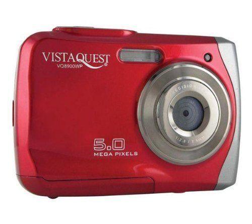 Vistaquest - Waterproof Digital Camera 5MP Red