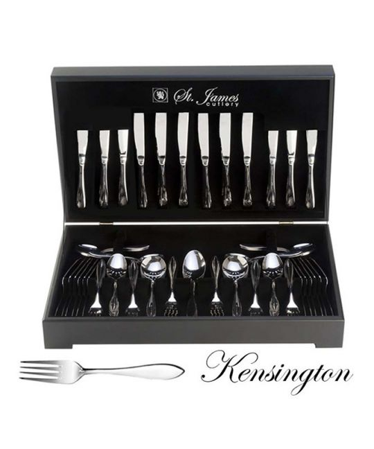 St James - Kensington 112 Piece Cutlery Set In Wooden Canteen