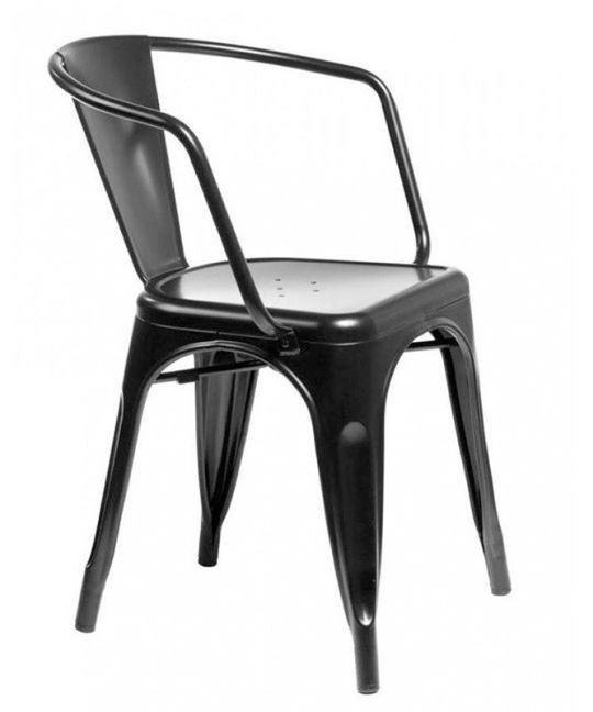 Mad Chair - Replica Tolix arm chair - Black
