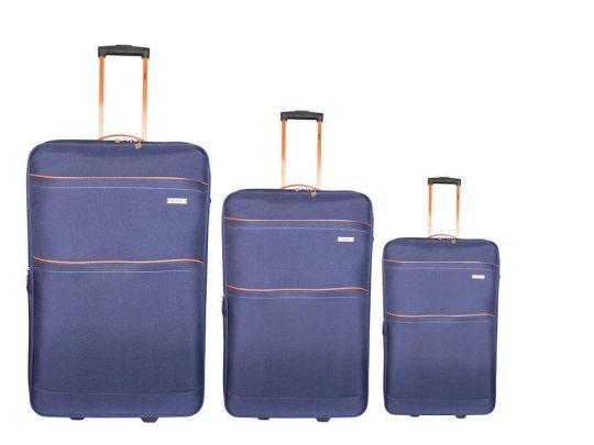 Tosca - Traveller 3 Piece Trolley Set 50cm, 60cm, 70cm (Navy/Orange)