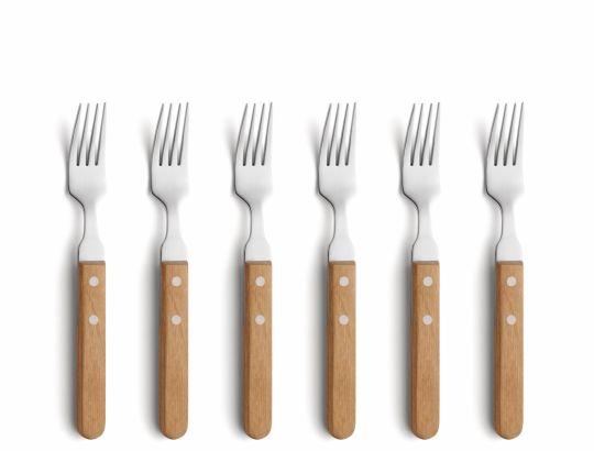 Amefa - AMSF6 Steak Forks Wood 6 Piece