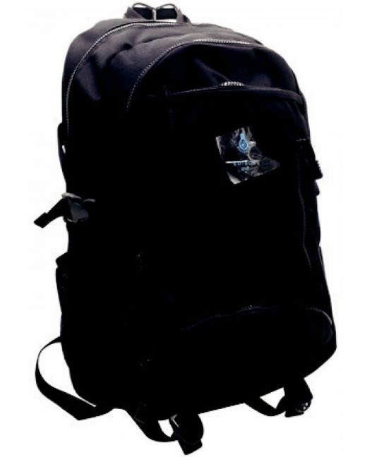 Edison - Large Chunky Zip Backpack (Black)