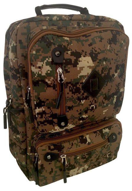 Edison - Camo School Backpack (Green)