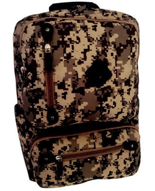 Edison - Camo School Backpack (Grey)