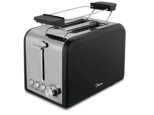 Midea - Toaster with Warming Rack 240V-850W Black