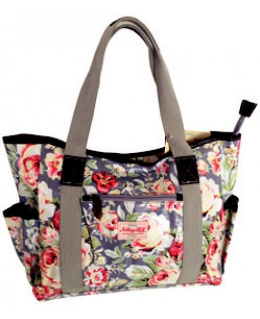 Notting Hill - Large Canvas Handle Handbag (Light Floral)