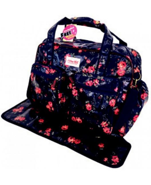 Notting Hill - Two Pocket Nappy Bag With Free Nappy Changer (Floral)
