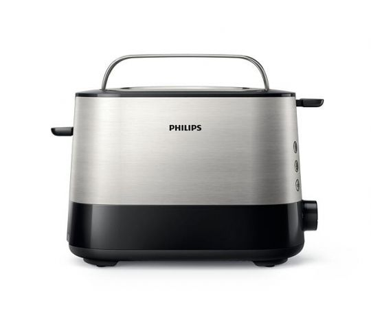 Philips - Daily Collection Toaster Stainless Steel