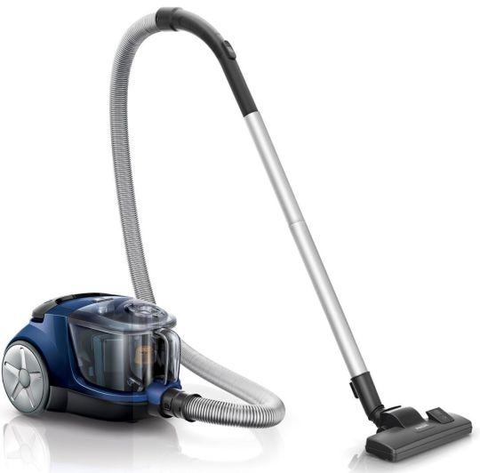 Philips - PowerPro Compact Bagless Vacuum Cleaner (Black/Aqua)