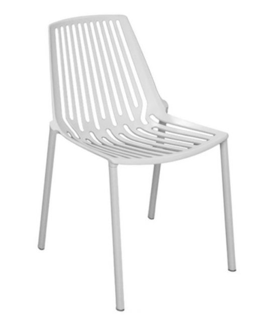 Mad Chair - Horizontal Side Chair - White